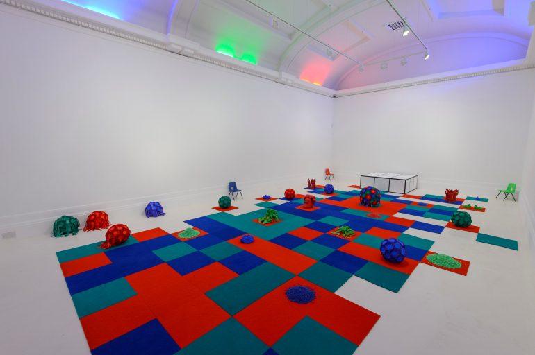 Grundy installation show white room